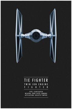Minimal Star Wars Spaceship Fighters - Design - ShortList Magazine