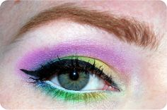 Showstopping colorful EOTD!