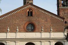 Milano - Abbazia di Chiaravalle - Facciata - Dettaglio.