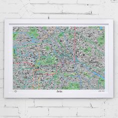 Evermade Map Hand Drawn of Berlin | Prezola - The Wedding Gift List