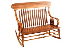 American Bent Oak Rocking Loveseat -- lovely for a porch