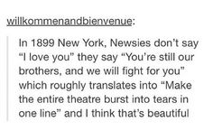 """""""Make the entire theatre burst into tears in one line."""" <-- This is so true though."""