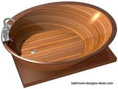 Wooden Bathtubs - be close to nature