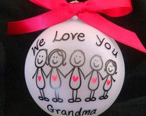"""christmas ornaments ,""""Add Your Family Name"""" grandma christmas ornament,grandpa christmas ornament, family christmas  ornament,"""