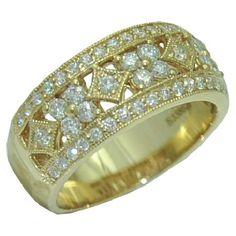 0.68 cttw. Diamond Ring in 14 ky https://www.goldinart.com/shop/diamond-bands/0-68-cttw-diamond-ring-in-14-ky-2 #DiamondRing
