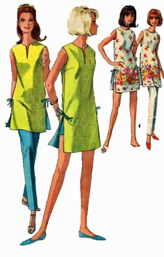 Simplicity 6011 1960s Split Neck Beach Dress Hot by retromonkeys, $17.00