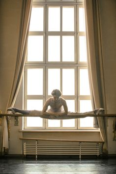 "qwphoto: ""Because sometimes you have to feel like Van Damme before barre… Julian Mackey in the Bolshoi studios """