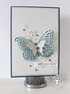 butterfly hello card by Chantal de Kaste