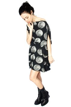 Moon Phase jersey dress