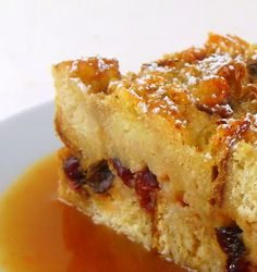 One Perfect Bite: Cranberry Bread Pudding with Orange Hard Sauce