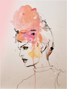 Insouciant by Leigh Viner - Fashion Illustration Art Print