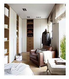 Mediterranean-style dressing room; El Mueble magazine