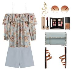 """""""Fleur"""" by cybelfee ❤ liked on Polyvore featuring Valentino, Zimmermann, Pierre Hardy, Sophie Bille Brahe, NARS Cosmetics, Marc Jacobs, Topshop and Kevyn Aucoin"""