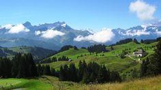 Above Villars/ Bretaye. Dents du midi on the horizon Ski, Forest Trail, Alpine Lake, Nice View, Finland, Switzerland, Places Ive Been, Germany, Hiking