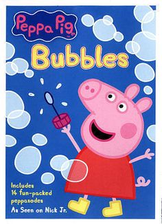 Nick Jr Peppa Pig Bubbles DVD New/Sealed!! 14 Episodes!! Adorable Show!!