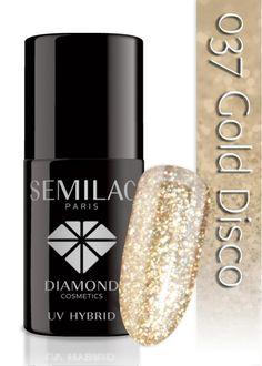Lakier hybrydowy Semilac 037 Gold Disco - 6 ml