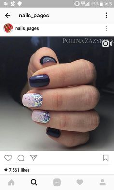 Opting for bright colours or intricate nail art isn't a must anymore. This year, nude nail designs are becoming a trend. Here are some nude nail designs. Gorgeous Nails, Love Nails, Fancy Nails, How To Do Nails, Stylish Nails, Trendy Nails, Nagellack Design, Creative Nails, Winter Nails