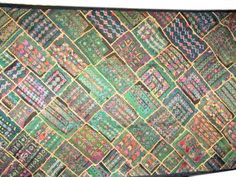 India Wall Tapestry Handcrafted Kutch Embroidery Patchwork Home Decor Wall Hanging Throw Art 78 by Mogul Interior, http://www.amazon.com/dp/B00CDGHCLE/ref=cm_sw_r_pi_dp_UATesb1AJ06N2