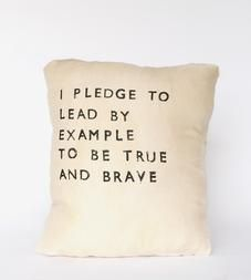 """""""Lead By Example"""" Linen Pillow"""