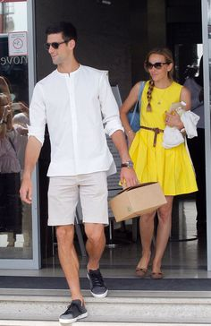Nole and Jelena arriving from Monte-Carlo to Belgrade yesterday