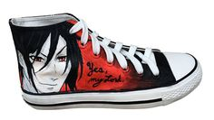 Black Butler High Tops Men's by GalaxyShoesAndMore on Etsy
