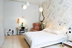 Chambre à coucher fidèle à la déco intérieure de ce loft design