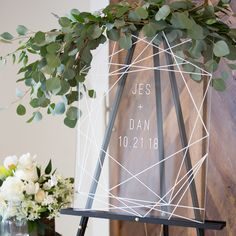 Geometric Lines Wedding Welcome Sign