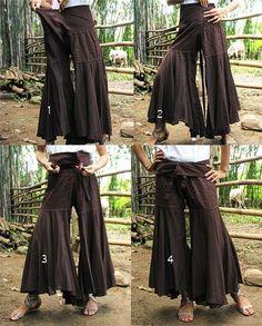 Beautiful wrap pants - inspiration