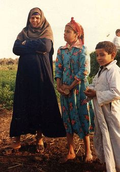 Egyptian fellahin family