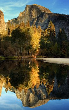 Reflected Half Dome, Yosemite National Park, United States - photo by Jason Branz.