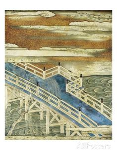 19th-Century Japanese Lacquer Writing Box Depicting River Scenes Giclee Print at AllPosters.com