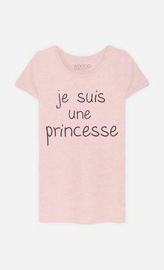 T-Shirt Rose Chiné Femme Je Suis Une Princesse de la Collection Alfred le…