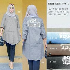 """Hermes Tunik 99.000 ,Matt Katun Denim Printing Aplikasi Payet Mute Ld100cm Pj90cm (Good Quality) Ori by SV  #urunumusatiyorum #mucevher #taki #makyaj #yuzuk #segiempat #tutorialhijab #hijabgrosir #jemberhits #jemberkeren #banyuwangihits #onlineshop #segiempatmurah #kerudungmurah #jilbabmurah #kerudunggrosir #jilbabgrosir #kosmetikgrosir #bajugrosir #coklat #sepatumurah #throwback #amazing #ladies #weddingday #australia #melbourne #wedding #weddingphotography #bridal"" by @phepebstore…"