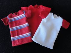 Set of 3 T-shirts for Isul - Red.