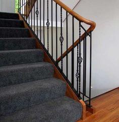 Stair Balustrade Railing - Design via www.trendsi.com