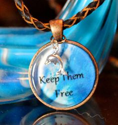 Charity Item! Keep Dolphins Free Pendant by GreyGyrl on Etsy Proceeds benefit Ric O'Barry The Dolphin Project.