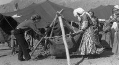 Kurdish women making buttermilk (Do / دۆ) in the 1960's.