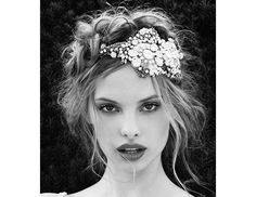 @Margaret Byrd Beauty - Make a statement by pinning a glittery hairpiece under your perfectly disheveled braid.