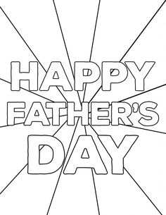 Happy Father's Day Coloring Pages Free Printables - Paper Trail Design
