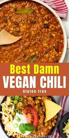 This the best hearty, meaty and satisfying vegan chili my husband has ever made. - This the best hearty, meaty and satisfying vegan chili my husband has ever made. It is loaded with - Vegan Mexican Recipes, Vegan Dinner Recipes, Vegan Recipes Easy, Whole Food Recipes, Cooking Recipes, Whole Foods Vegan, Vegan Chili Recipes, Easy Vegan Dishes, Vegetarian Recipes