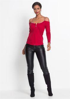 Strickshirt mit Reißverschluss rot jetzt im Online Shop von bonprix.de ab ? 16,99 bestellen. Verführt auf ganzer Linie! Sexy Sweatshirt mit Reißverschluss ...