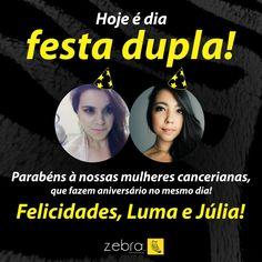Feliz aniversário para elas! #propaganda #Zebra #publicidade #agência #pp #DeuZebra #equipe #empresa #empreendedorismo #empreender #negócios #comunicação