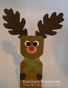 Stampin'Up Envelope Punch Board Reindeer Treat Holders! I made a video too at karinaskreation.com .