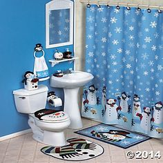 Snowman Bathroom Decor