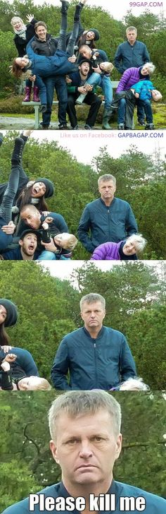 #FunnyMemes About Dad vs. Family Pictures