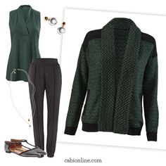 #cabi - A chunky knit with a shawl collar, our Fireside Sweater is the perfect piece to stay warm this season.