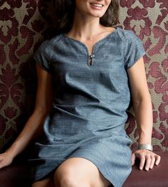 Organic Chambray Shift Dress | Women's Clothing | National Picnic Clothing | Scoutmob Shoppe | Product Detail