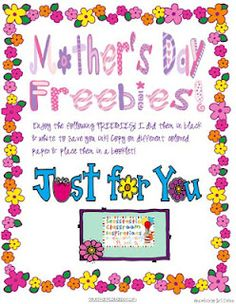 Mother's Day Freebies! - Re-pinned by @PediaStaff – Please Visit http://ht.ly/63sNt for all our pediatric therapy pins