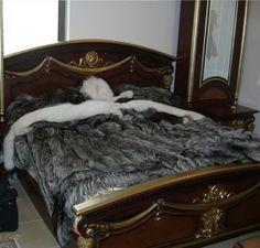 Silver Fox Fur blanket throw