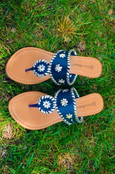 f79bf78cfb9d1 Natasha Wedge (Navy-Multi) – Girly Girl Boutique- Fake Jack Rogers for